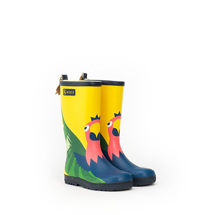 AIGLE Woodypop Fun Rubber Boots  Parrot