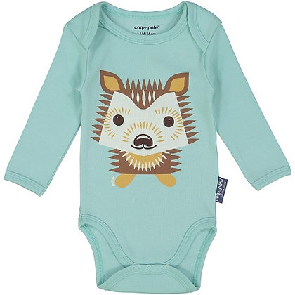 Coq en Pate - Hedgehog Long Sleeve Onesie With Bib 3-6 mnth