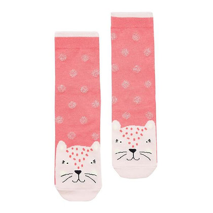 JOULES bamboo socks  PINK LEOPALD