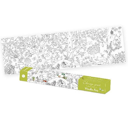 Le Botaniste - Botanist Giant Colouring Poster By Moulin Roty