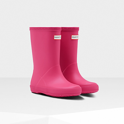 HUNTER Original Kids First Classic Rain Boots: BRIGHT PINK