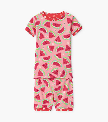 HATLEY Watermelon Slices Organic Cotton Short Pajama Set