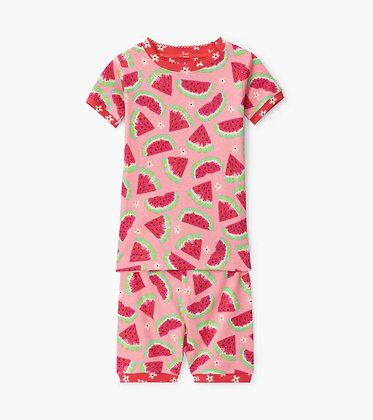 HATLEY Watermelon Slices Organic Cotton Short Pajama Set