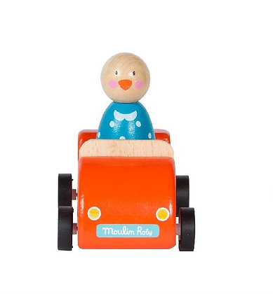 Grande Famille - Play - Car, Red With Jeanne By Moulin Roty