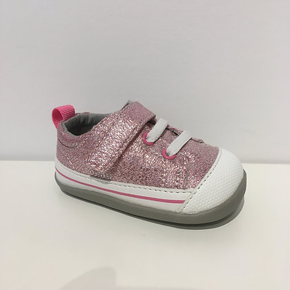 SEE KAI RUN Stevie (First Walker) Pink Glitter