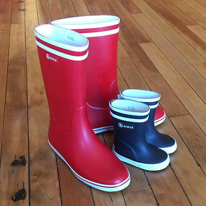 AIGLE Malouine Rubber Boots in red  mommy&me