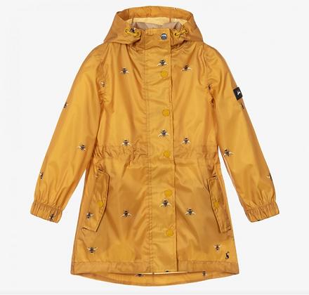 JOULES GOLD BEE Golightly Printed Waterproof Packable Jacket