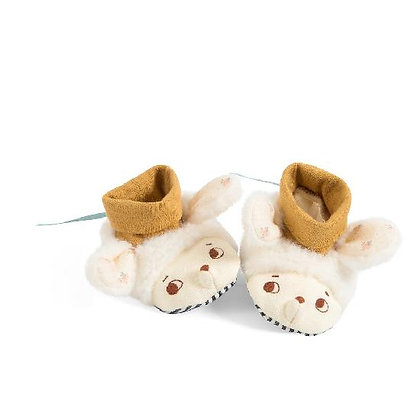 Apres la Pluie - Nuage Sheep Slippers 0-6m By Moulin Roty & Lucile Michieli
