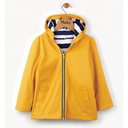 HATLEY Yellow With Navy Stripe Lining Splash Jacket