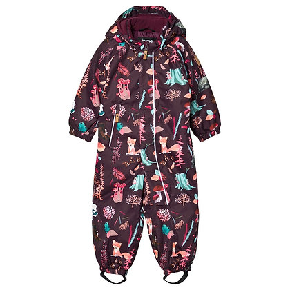 REIMA Toddlers' winter snowsuit Puhuri PURPLE/FOREST