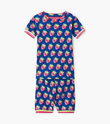 HATLEY Strawberries Organic Cotton Short Pajama Set