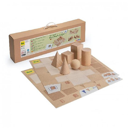 Wood - Geometrical Shapes Set Game By Erzi