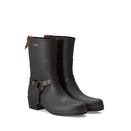 AIGLE Miss Julie Rubber Boots  Black