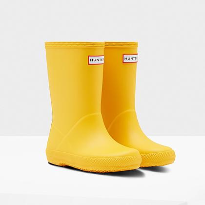 HUNTER Original Kids First Classic Rain Boots: Yellow