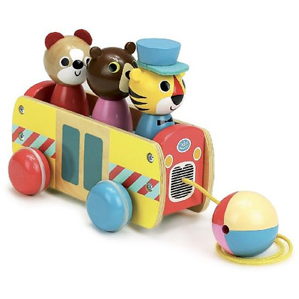 Ingela P. Arrhenius - Pull toy coach Bus a trainer By Vilac