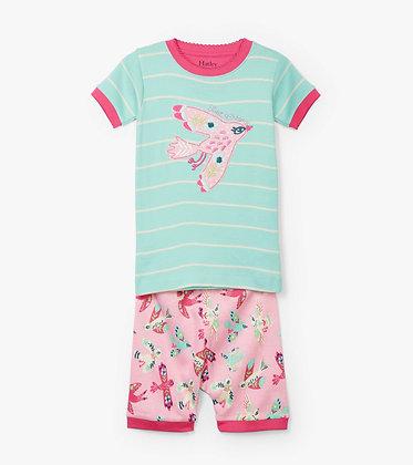 HATLEY SOARING BIRDIES ORGANIC COTTON SHORT Pajama Set