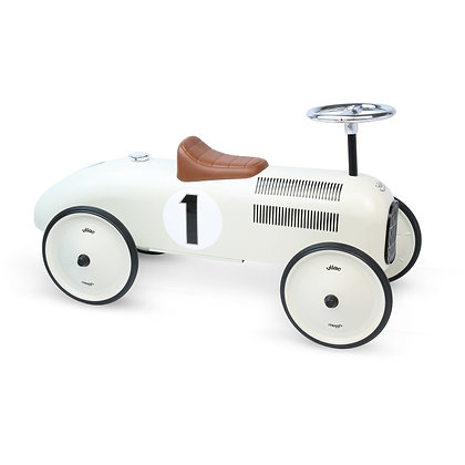 VILAC WHITE VINTAGE CAR