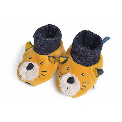 Lulu Yellow Slippers (0-6 months) By Moulin Roty.