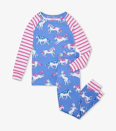 HATLEY DREAMY UNICORNS Organic Cotton Raglan Pajama Set