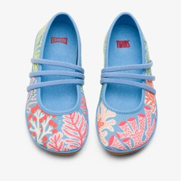 CAMPER Multicoloured TWINS ballerina shoe for girls