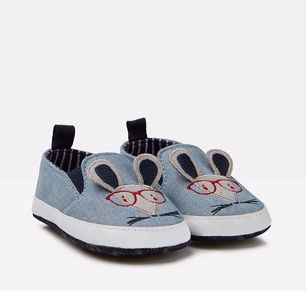 JOULES LITTLETON PRAM SHOES / BLUE MOUSE