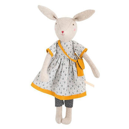 Famille Mirabelle - Rose the Mommy Rabbit (40 cm) By Moulin Roty