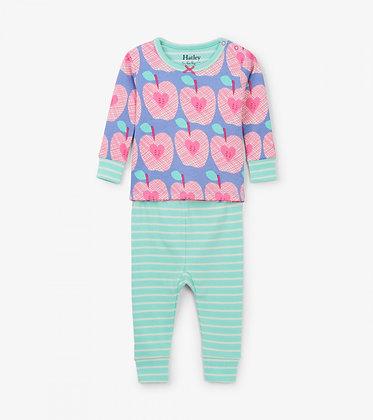 HATLEY Apple Orchard Organic Cotton Baby Pajama Set