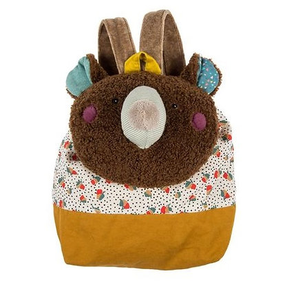 Les Jolis Trop Beaux Brown bear backpack