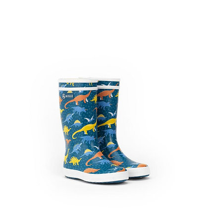 AIGLE Lolly Pop Rubber Boots  Dino Print