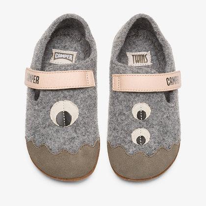 CAMPER Grey TWINS slipper