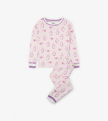 HATLEY Precious Penguins Organic Cotton Pajama Set