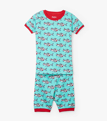 HATLEY SNORKELING SHARKS ORGANIC COTTON SHORT Pajama Set
