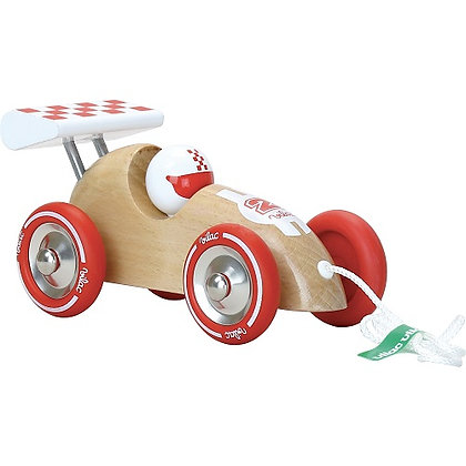 Vehicle - Pull Along Racing Car, Natural  By Vilac