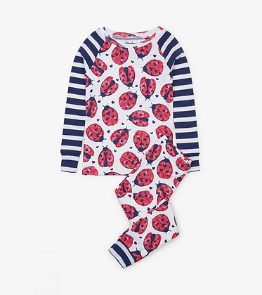 HATLEY Love Bugs Organic Cotton Raglan Pajama Set