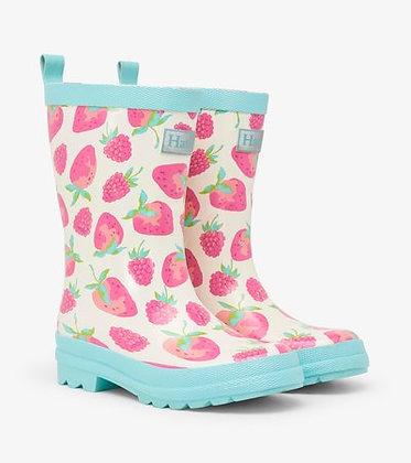 HATLEY Delicious Berries Shiny Rain Boots