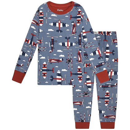 HATLEY paper planes ORGANIC COTTON Pajama Set