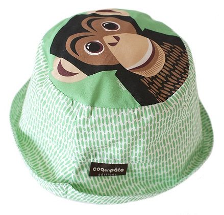 CHIMPANZEE SUN HAT ORGANIC COTTON 2-3 YEARS
