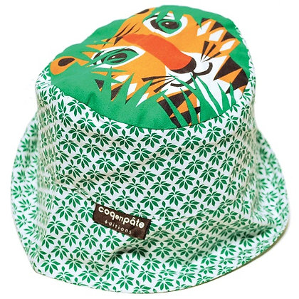 TIGER SUN HAT ORGANIC COTTON 2-3 YEARS
