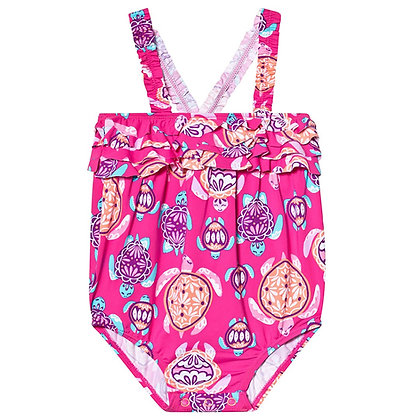 HATLEY PRETTY SEA TURTLES BABY SWIMSUIT 18-24M