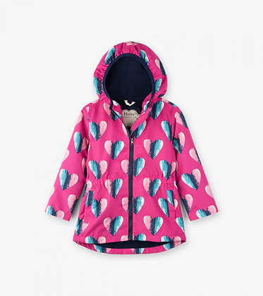 Hearts Microfiber Rain Jacket