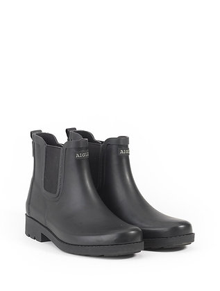 AIGLE Carville Rubber Ankle Boots  Black