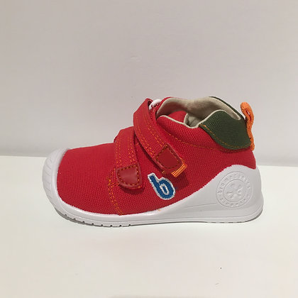 BIOMECANICS CANVAS BABY SHOES RED