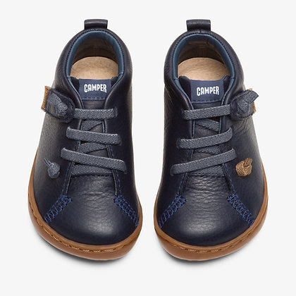 CAMPER The First Walkers PEU Navy full grain leather ankle boot