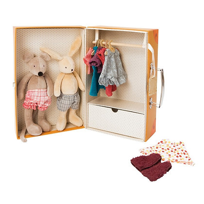Grande Famille - Little Wardrobe Suitcase  By Moulin Roty