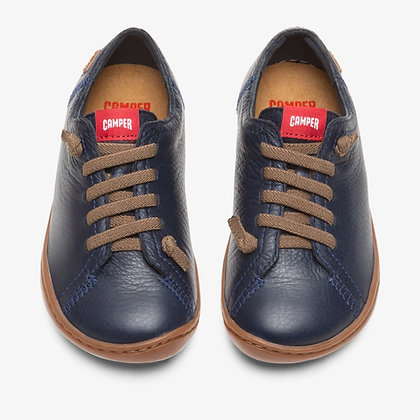 CAMPER Peu Blue Lace-Up for Kids