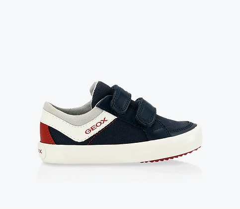 GEOX B GISLI BOY CANVAS SNEAKERS BLUE