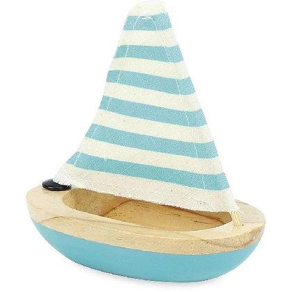 Wooden Bath Sailboat Blue by VILAC