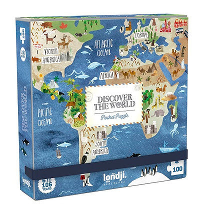 Pocket Puzzle - World 100pc By Londji
