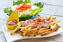 Handcut Fries & House Salad