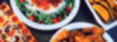 Upper Crust Pizza Chicken Jojos and salad